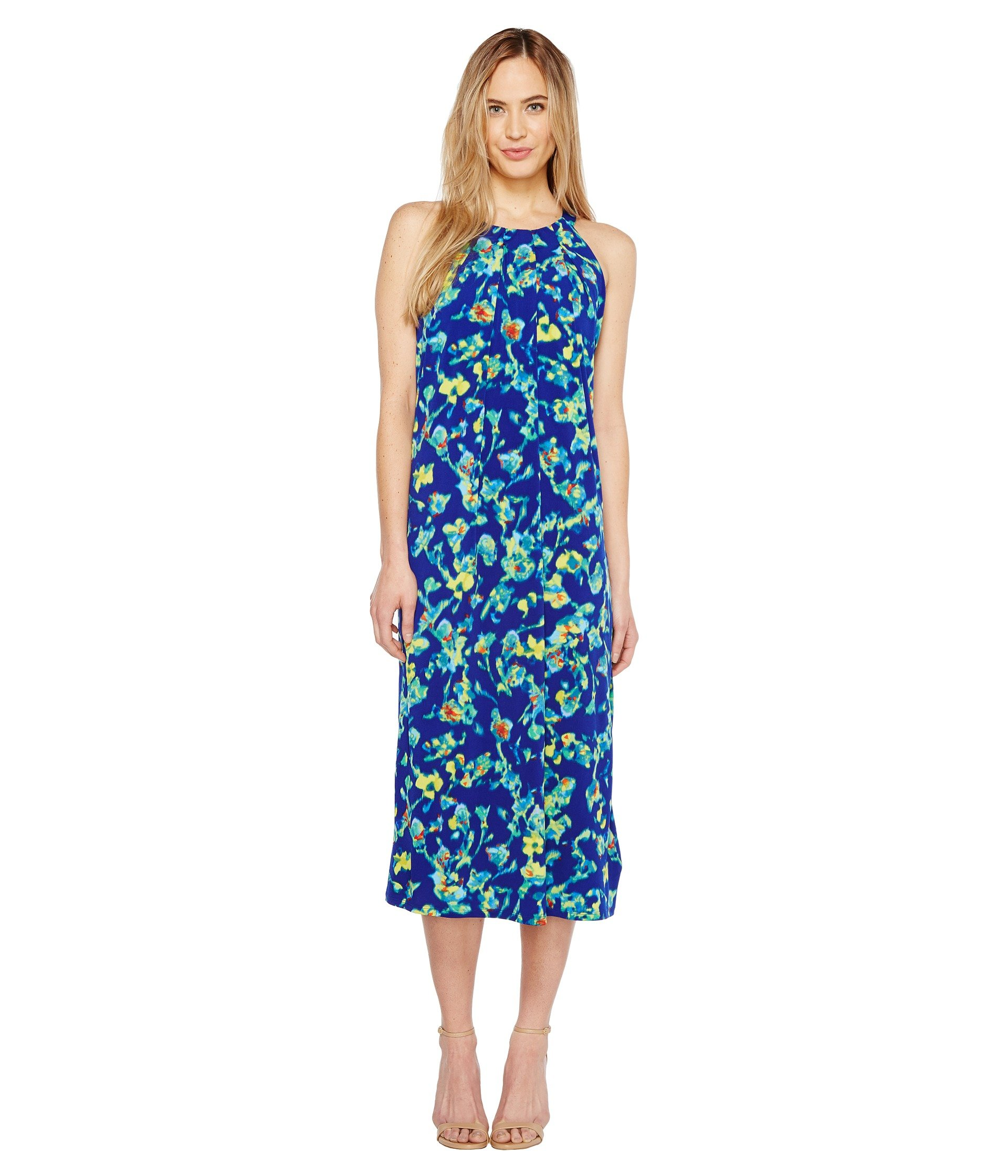 ELLEN TRACY Halter Midi Dress, Island Floral