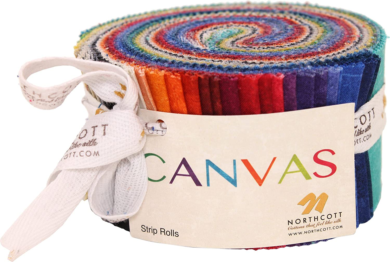OFFicial mail order OFFicial store Canvas Stone Strips 40 Jelly Northcott Roll 2.5-inch