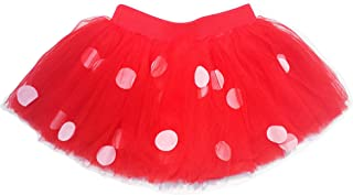 Sequin Alley Red with White Polka Dots Tutu, 6 Layers of Tulle, Birthday Skirt, Baby Girls Sizes 6M to 5, Halloween Costume