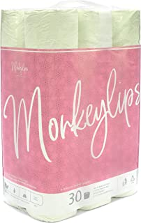 Monkeylips Organic Green Tea Toilet Paper, Unbleached, 30 Rolls, 3 Ply