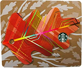 Starbucks Gift Card Collectible 2016 Die Cut Orange Fall Leaf Metallic No Value Limited Edition
