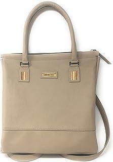 Embawo ELE BP borsa zainetto che si trasforma in una borsa a tracolla e a mano - vera pelle italiana colore beige taupé ed...