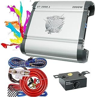 $103 » Soundxtrem SX ST-2000.1 Monoblock Car Audio Amplifiers 2000 Watt 1 Channel Power Amp with Bass Knob + Completed 4 Gauge Am...