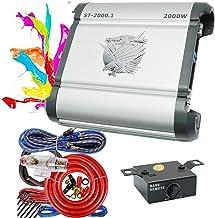 $119 » Soundxtrem SX ST-2000.1 Monoblock Car Audio Amplifiers 2000 Watt 1 Channel Power Amp with Bass Knob + Completed 4 Gauge Am...