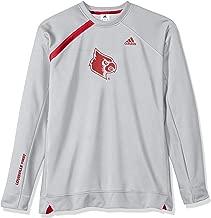 NCAA Louisville Cardinals Mens On Court L/S Shooting Shirton Court L/S Shooting Shirt, Gray, X-Large