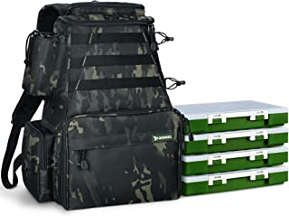 Rodeel Fishing Tackle Backpack 2 Fishing Rod Holders with...