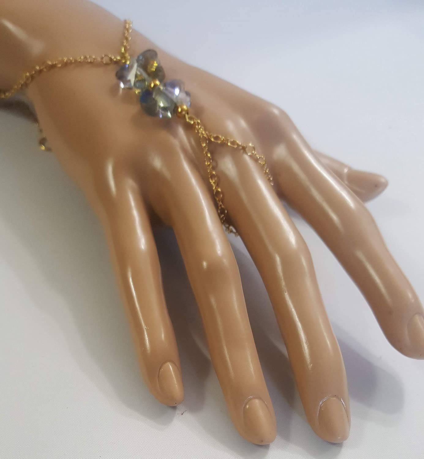 Handmade Hand Chain Cheap sale Slave with Harness Cheap mail order specialty store Gold Bracelet