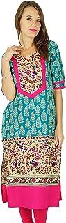 diseñador Indio de Bollywood Kurta Mujeres étnico Kurti algodón Vestido de la túnica