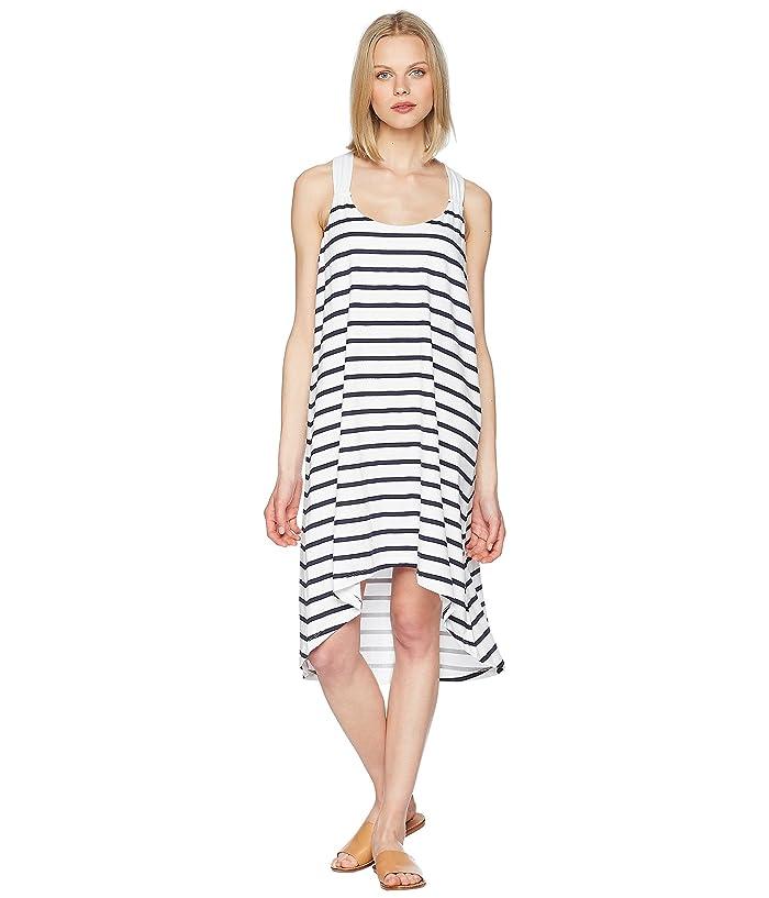 Heidi Klein Core Twist Back Tapered Hem Dress (Stripe) Women