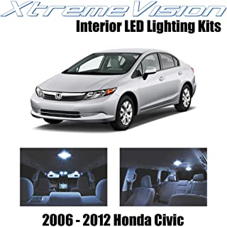 XtremeVision Interior LED for Honda Civic 2006-2012 (10 Pieces) Cool White Interior LED Kit + Installation Tool