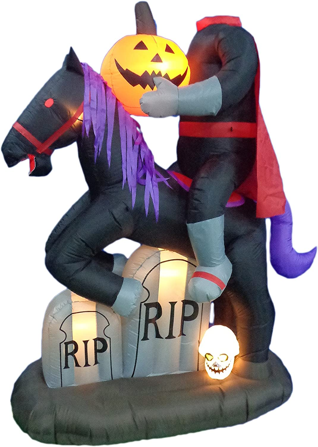 6.5 Foot Tall Lighted Halloween Max 52% OFF wit Headless Horseman Inflatable wholesale