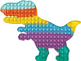 Abeier - Jouet sensoriel géant à bulles Push Pop, jouet géant anti-stress - Tyrannosaure