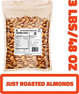 Just Roasted Almonds (Un-Salted, Dry-Roasted) (Just Roasted Almonds, 48 OZ) (KOSHER CERTIFIED)