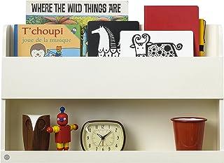 Tidy Books ® Estante para litera original Bunk Bed Buddy™ en blanco crudo | Estanterias flotantes de madera como mesilla auxiliar de noche | Ideal en dormitorio juvenil | 33 x 53 x 12 cm| A mano | Eco