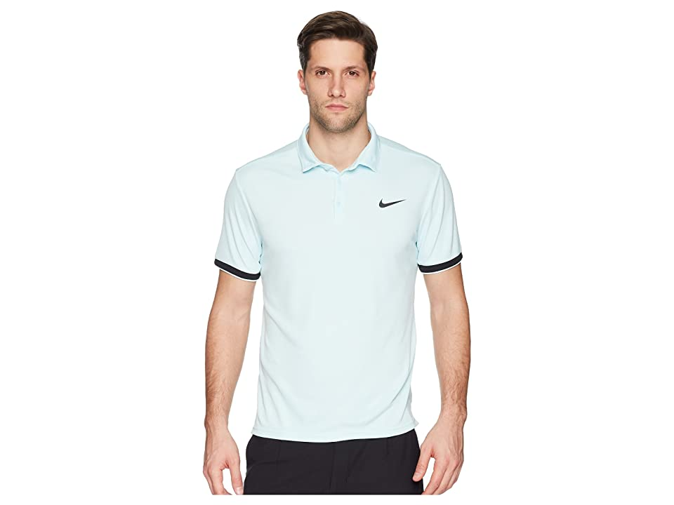Nike Court Dry Tennis Polo (Glacier Blue/Black/Black) Men