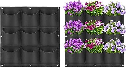 Yuccer Vertical Garden Planter, Wall-Mounted Planting Bags Hangers Outdoor Indoor Vegetables Flowers Growing Container Pot...