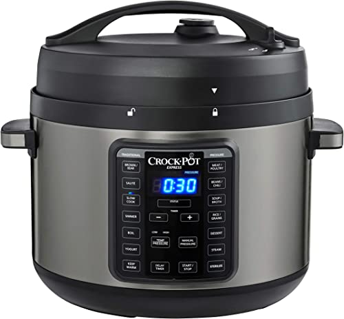 popular Crock-Pot 2097590 10-Qt. Express Crock Multi-Cooker with Easy Release Steam Dial, 10QT, Black 2021 discount Stainless outlet online sale