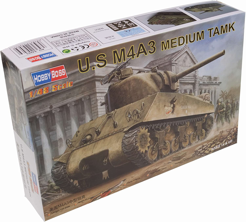 Hobby Boss US M4A3 Medium Tank Vehicle Model Building Kit