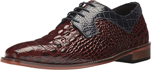 STACY ADAMS Men& 039;s Garelli Oxford, Cognac Dark Blau, 10.5 M US