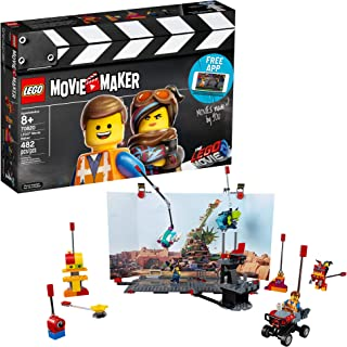 LEGO THE LEGO MOVIE 2 Movie Maker 70820 Building Kit For Kids, Build and Play Creative Director Roleplay Toy with Free Mov...