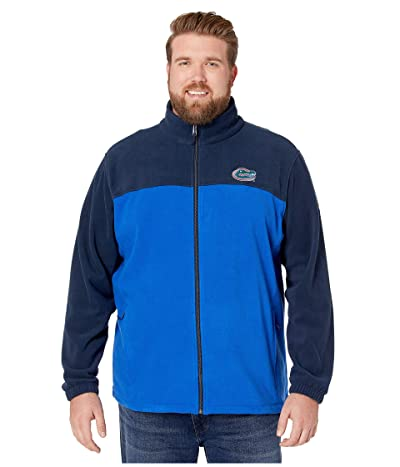 Columbia College Big Tall Florida Gators CLG Flankertm III Fleece Jacket (Collegiate Navy) Men
