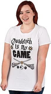 Quidditch Is My Game Women's White Tee T-Shirt Shirt