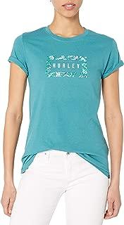 Hurley Womens CI0920 Flashback Perfect Tshirt Short Sleeves T-Shirt