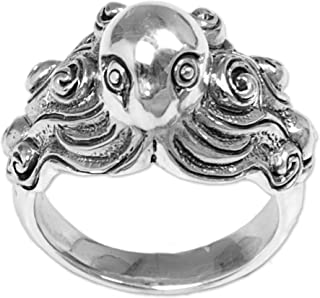 925 Sterling Silver Cocktail Ring 'Octopus of The Deep'