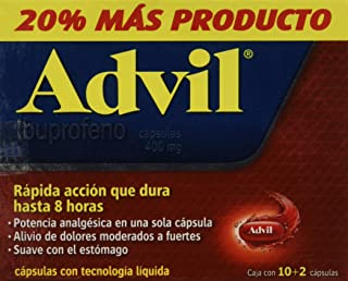 Advil Cápsulas, Max, 400 Mg, 12