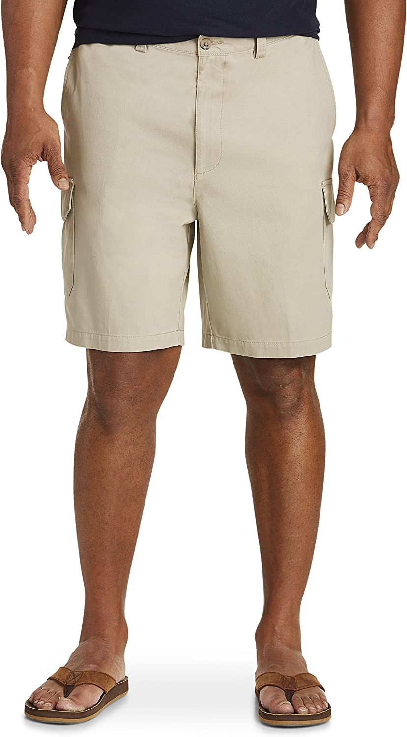 Harbor Bay by DXL Big and Tall Continuous Comfort Twill Cargo Shorts