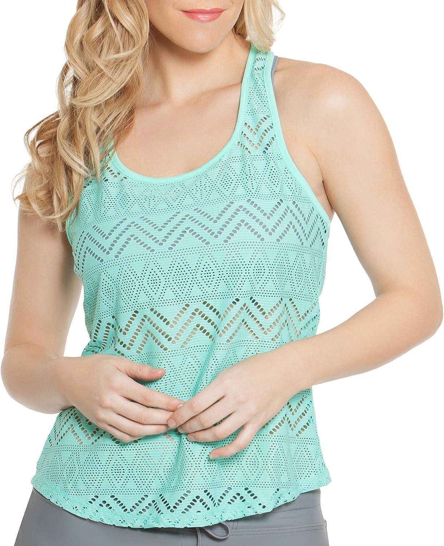 Gossip Womens Crochet 2in1 Swim Top Separates Green M