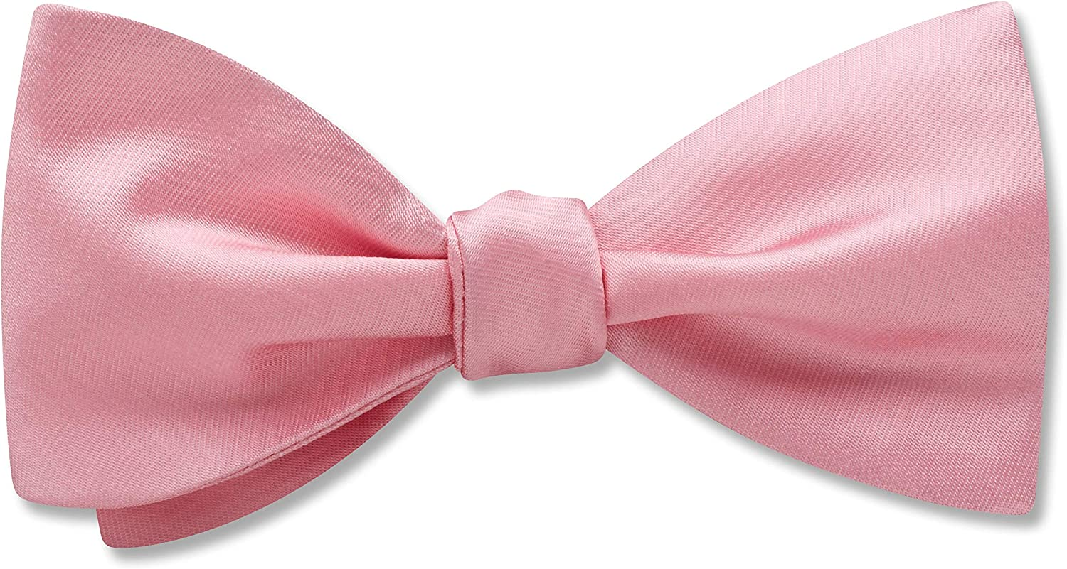 Somerville Pink Pink Solid, Men's Bow Tie, Handmade in the USA