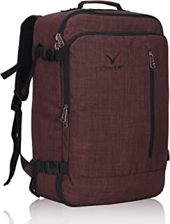 Hynes Eagle 38L Flight Approved Weekender Carry on Backpack Brown