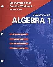 McDougal Littell Algebra 1: Standardized Test Practice Workbook, Teacher's Edition