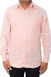 White King Men Cotton Formal Shirt (Light Pink)