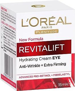 L'Oréal Paris Revitalift Anti-Ageing Eye Cream, Reduces Bags and Dark Circles, with Pro Retinol, 15ml