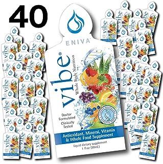 Eniva Vibe Fruit Sensation Travel Size Multivitamin | Liquid Multivitamin Packets | Low Sugar | No Artificial Flavors | Do...