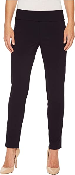Control Stretch Pull-On Ankle Pants with Back Slit Detail 967674d2b42