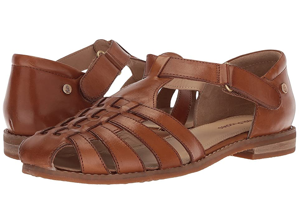 1930s Style Shoes – Art Deco Shoes Hush Puppies - Chardon Fisherman Tan Leather Womens Sandals $89.95 AT vintagedancer.com