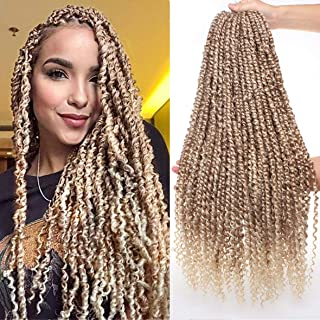 Xtrend 22inch Ombre Pre-twisted Passion Twist Hair Synthetic Crochet Braiding Hair For Women 15Strands/Pack Long Bohemian ...
