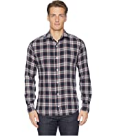 eleventy - Check Spread Collar Brushed Flannel Shirt