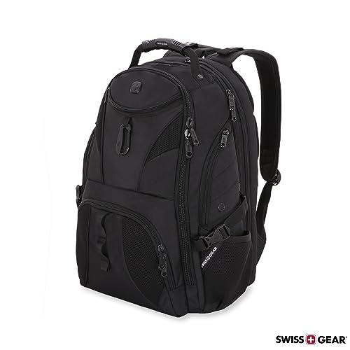 9ad372817dd7 SWISSGEAR Travel Gear 1900 Scansmart TSA Laptop Backpack Black Black