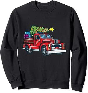 Fire Truck Christmas Shirt Firefighter Fireman Boys Gift  Sweatshirt