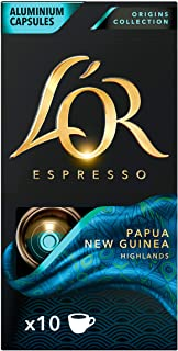 L'OR Espresso Coffee Papua New Guinea Intensity 7 – Nespresso®* Compatible Capsules (10 Packs of 10 Capsules)