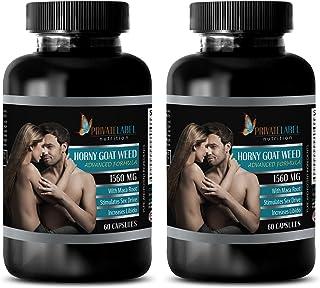 Brain Memory Nervous System - EPIMEDIUM 1560MG - Horny Goat Weed - Advanced Formula - Horny Goat Weed Gluten Free - 2 Bott...