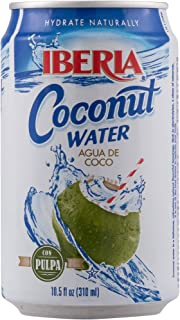 Iberia Coconut Water with Pulp, 10.5 Fl Oz, Pack of 24