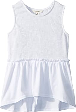 Smocked Sleeveless Tee (Big Kids)