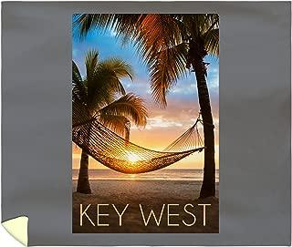 Lantern Press Key West, Florida - Hammock and Sunset 56385 (88x104 King Microfiber Duvet Cover)