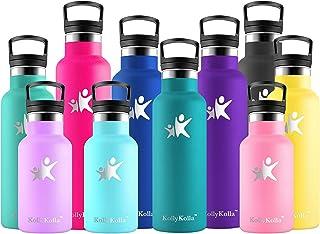 KollyKolla Isolerad vattenflaska, rostfritt stål vakuumdrycker flaskor - 350/500/600/750 ml/1 l - läckagesäker varm/kall m...