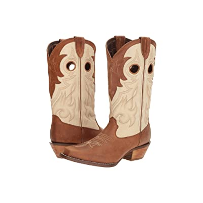 Durango Crush 12 Off the Collar (Tan/Cream) Cowboy Boots